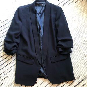 Navy longline blazer